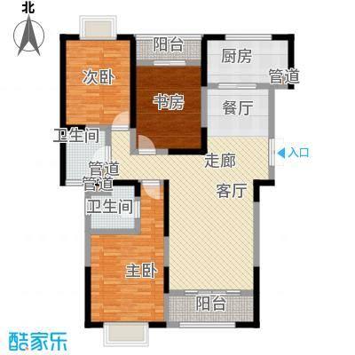 九龙官邸 碧水湾149.87㎡户型图户型3室2厅2卫