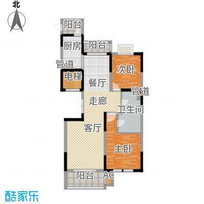 九龙官邸 碧水湾135.80㎡户型图户型2室2厅1卫
