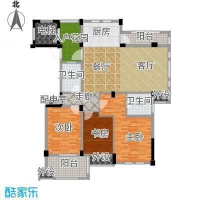 佳园131.85㎡小高层GC2户型3室2厅2卫