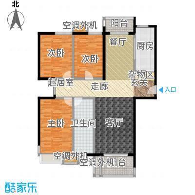 兰亭凤栖苑户型3室1卫1厨