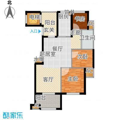 佳园104.16㎡多层花园电梯洋房DC3户型3室2厅1卫
