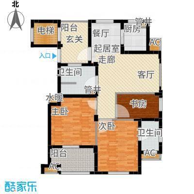 佳园130.02㎡多层花园电梯洋房DC2户型3室2厅2卫