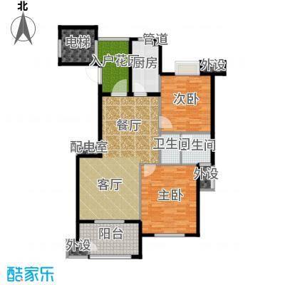 佳园90.48㎡多层花园电梯洋房DC1户型2室2厅1卫