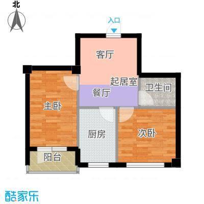 锦山秀城54.74㎡2室1厅1卫