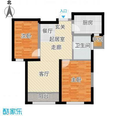 海昌天澜86.00㎡G-B户型2室2厅1卫
