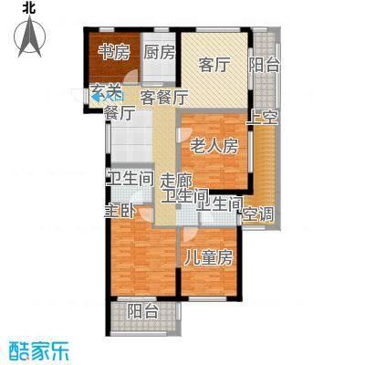 云峰苑117.00㎡4号楼-04户型 G2A奇数层户型4室2厅2卫