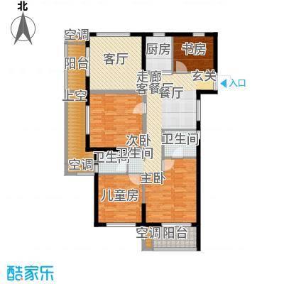 云峰苑117.00㎡4号楼-02户型 G2奇数层户型4室2厅2卫
