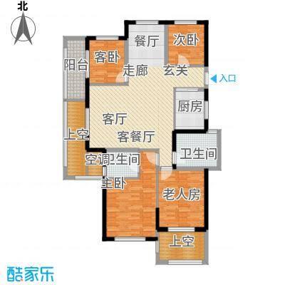 云峰苑121.00㎡1号楼-02户型A2偶数户型4室2厅2卫