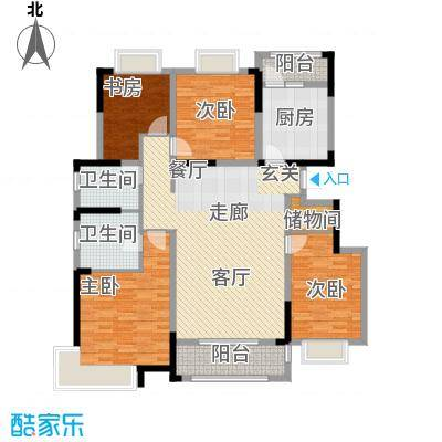 中惠卡丽兰137.00㎡I户型4室2厅2卫