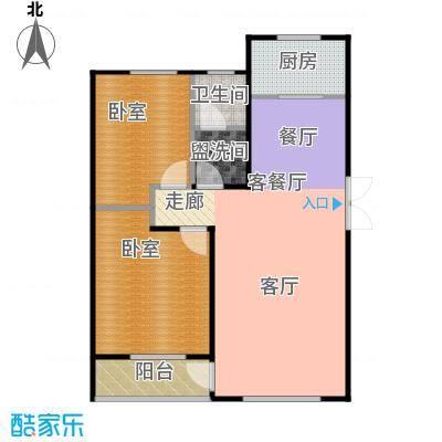 华海城户型1厅1卫1厨
