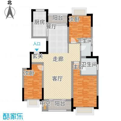 中惠卡丽兰123.00㎡G户型3室2厅2卫