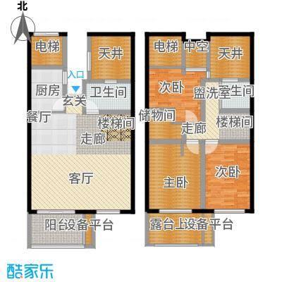 骏明国际C户型 93.13户型1室2厅2卫