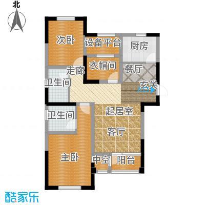 联发第五街109.36㎡19号楼01户型2室2厅2卫