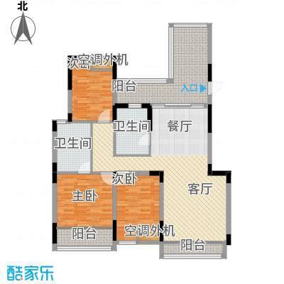 汇置尚都119.00㎡洋房AP-4F户型3室2厅1卫