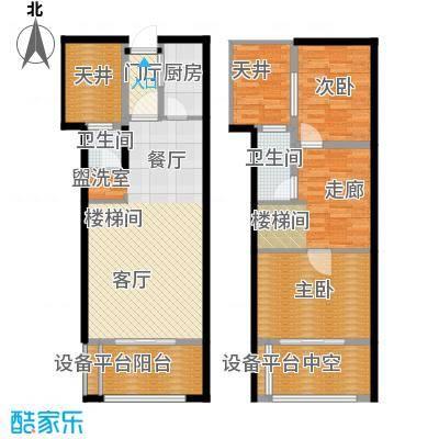 骏明国际D户型 88.98户型1室2厅2卫
