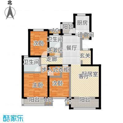开元花半里B1户型3室2厅2卫户型3室2厅2卫
