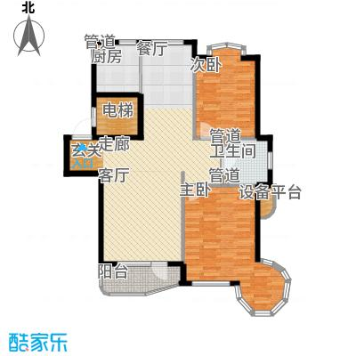 泊心湾户型图户型2室2厅1卫