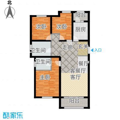 喜蜜湾136.95㎡B1户型3室1厅2卫1厨