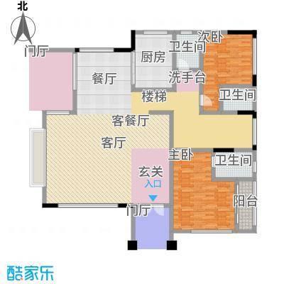 黄金海岸D1户型首层平面图户型2室2厅3卫