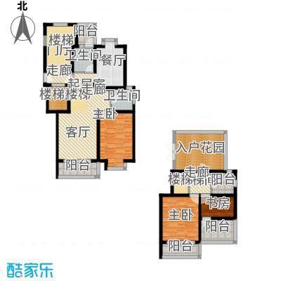 珑�庭146.04㎡B户型3室2卫