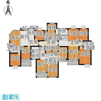 阳光雅居17、19栋户型8室1厅3卫2厨