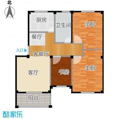东海明园89.36㎡3#&4#楼03户型3室2厅1卫