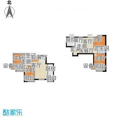 明湖・白鹭郡91.80㎡西区6号楼两室两厅一卫户型2室2厅1卫
