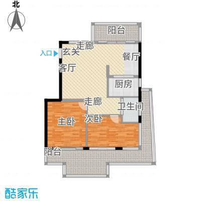 蝶景湾御江山户型2室1厅1卫1厨