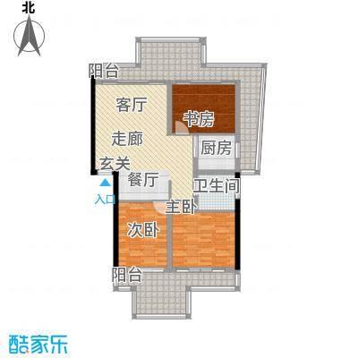蝶景湾御江山户型3室1卫1厨