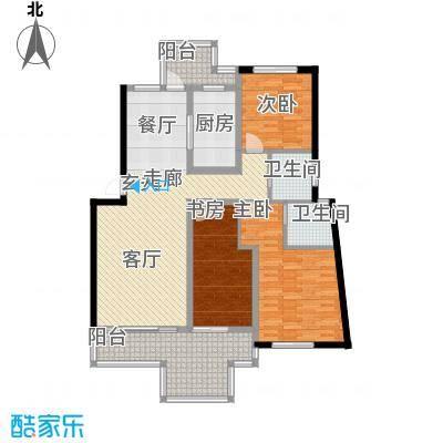 蝶景湾御江山户型3室1厅2卫1厨