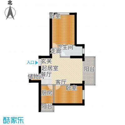 柒零捌零城仕公馆B10户型使用面积63-65平米户型
