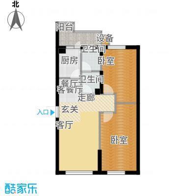 柒零捌零城仕公馆B1 2室2厅1卫使用面积61-63平米户型2室2厅1卫