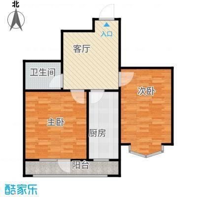 长堤湾68.45㎡G2-3户型2室2厅1卫