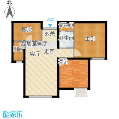 天津富力桃园94.10㎡3/4/5号楼02户型2室2厅1卫