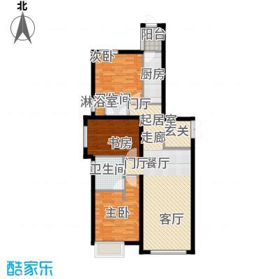 天津富力桃园2号楼01户型3室2厅2卫