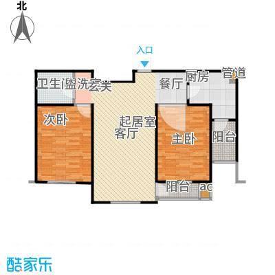 蓝天公寓二室一厅一卫户型