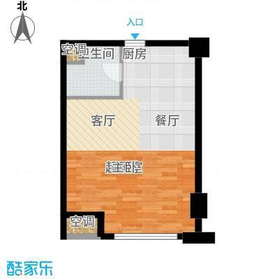 怡景.聚贤庭61.20㎡E4单身公寓户型1室1厅1卫