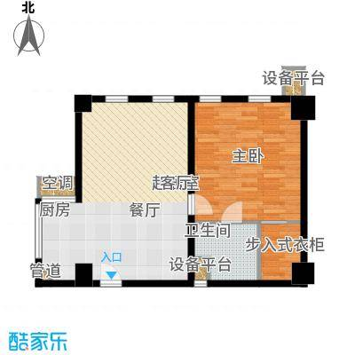 怡景.聚贤庭94.10㎡E1单身公寓户型1室1厅1卫