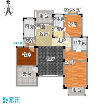 吉祥国际花园114.36㎡三期洋房五层 H-E户型3室2厅2卫