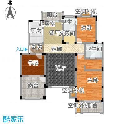 吉祥国际花园125.61㎡三期洋房四层 H-D户型3室2厅2卫