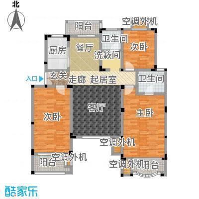 吉祥国际花园131.70㎡洋房三层 H-C户型3室2厅2卫