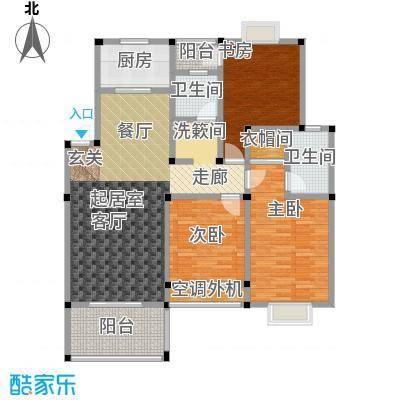 吉祥国际花园121.70㎡D-G(锦绣观邸)户型3室2厅2卫