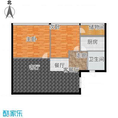 百大绿城西子国际120.00㎡C1户型2室2厅1卫