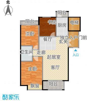 悦城H12/13# 使用面积92.27平方米户型3室2厅1卫