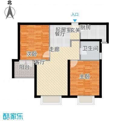 天山怡景苑80.00㎡二房二厅一卫-89平方米户型