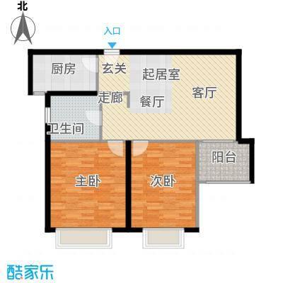 天山怡景苑80.00㎡二房一厅一卫-85-89平方米户型