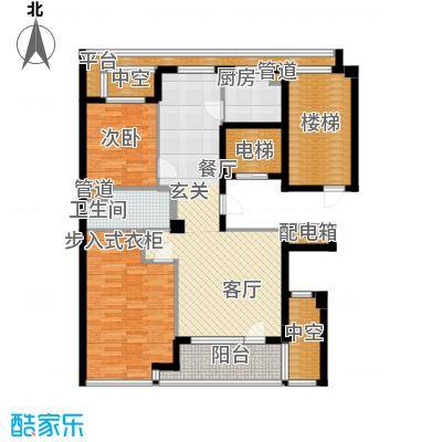绿城百合花园100.00㎡D12号楼 两室两厅一卫户型2室2厅1卫