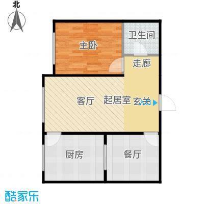 新华名座A座住宅户型1室1厅1卫1厨