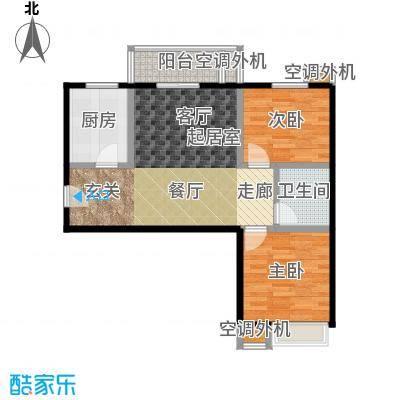 果岭湾89.00㎡9/10号楼户型图户型2室2厅1卫