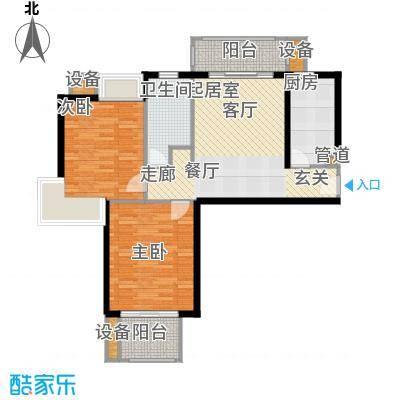 天山怡景苑二房一厅一卫 80-90平方米 570套户型